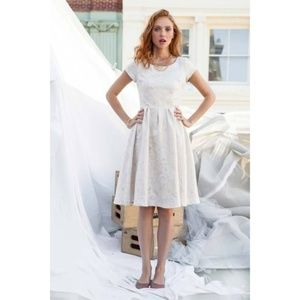Shabby Apple Cream with Gold Circles Chelsea Dress